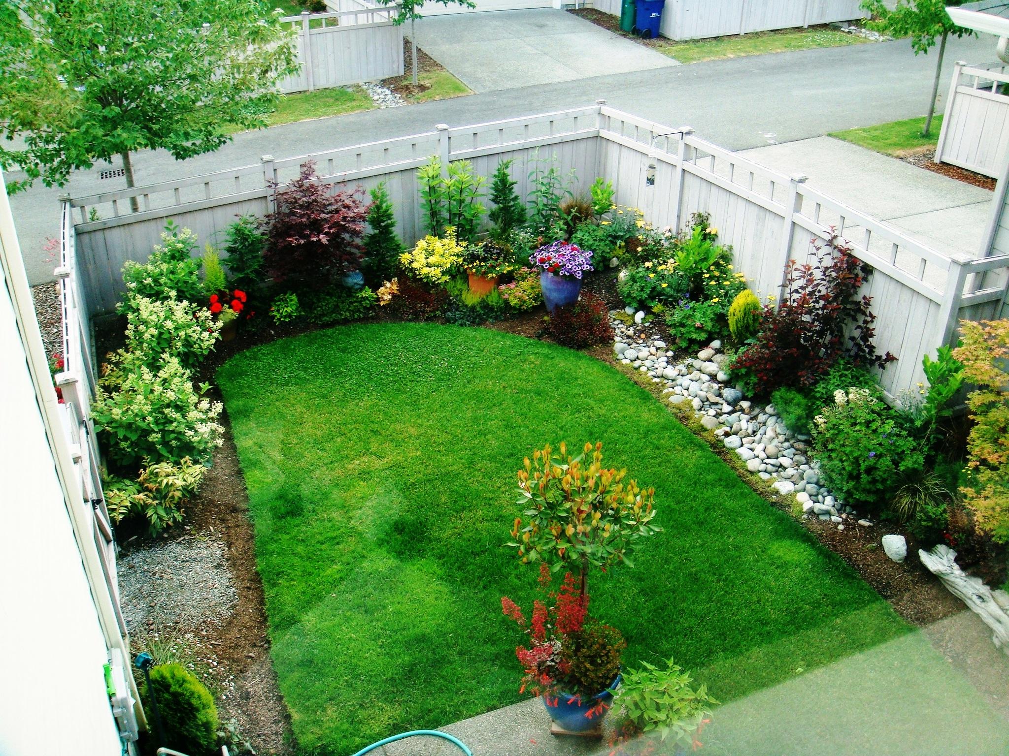 Enjoying a smaller garden